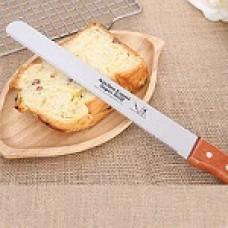 Нож для нарезки бисквита с деревянной ручкой с зубчиками