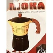 Кофеварка гейзерная 3 чашки - КАПУЧИНО