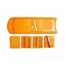 Терка с насадками оранжевая из 5 штук