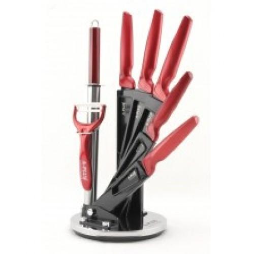 Набор ножей  на подставке 8 предметов модель 1001