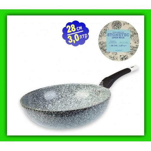 Сковорода c мраморным покрытием 28см-NEW