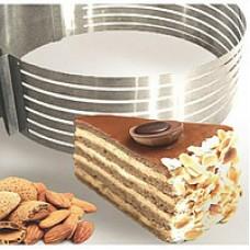 Раздвижные кольца для нарезки бисквита 15-30см