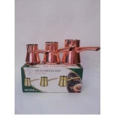 Набор турок из 3 штук с золотым напылением - PREMIUM