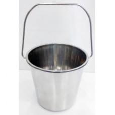 Ведро из нержавеющей стали без крышки - объем 10 литров