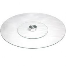 Стеклянная подставка прозрачная 30см