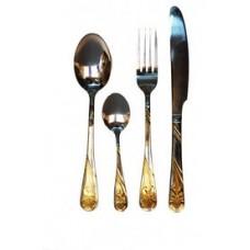 Ирис с золотым покрытием - столовая вилка